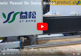 Automatic plywood die sawing machine